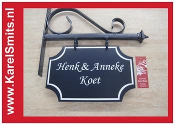 Uithangbord Maastricht Blauw Smeedijzer