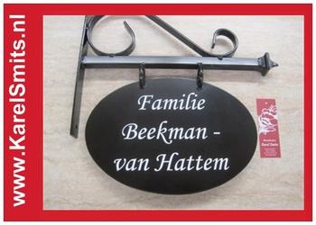 Uithangbord Ovaal Zwolle Zwart Smeedijzer