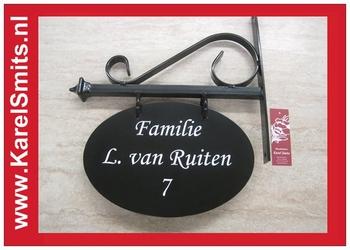 Uithangbord Ovaal Zwolle GrachtenGroen Smeedijzer