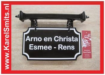 Naambordjes Den Haag Zwart Smeedijzer
