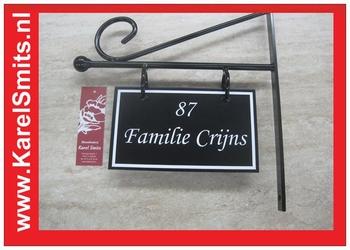 Uithangbord Middelburg Zwart Smeedijzer