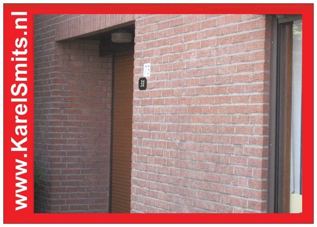 Huisnummerbordje Nijmegen Zwart Smeedijzer