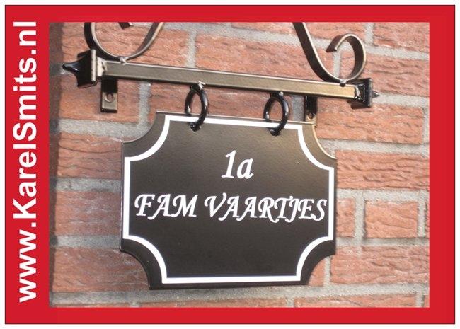 Naambord Leeuwarden Zwart Smeedijzer