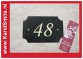 Huisnummerbord Nijmegen GrachtenGroen Smeedijzer