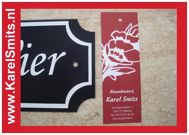 Huisnummerbordjes Nijmegen Blauw Smeedijzer