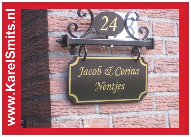 Smeedijzeren Naambord met huisnummer